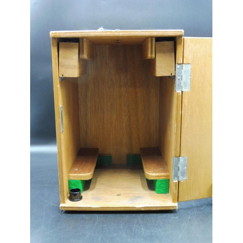 20 - Vintage Japanese Microscope (No 640139) complete with Spares Lenses and Lockable Wooden Case...