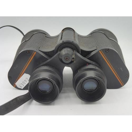 26 - Vintage Prinz binoculars 7x50 coated optics field 7.5° with carry case...