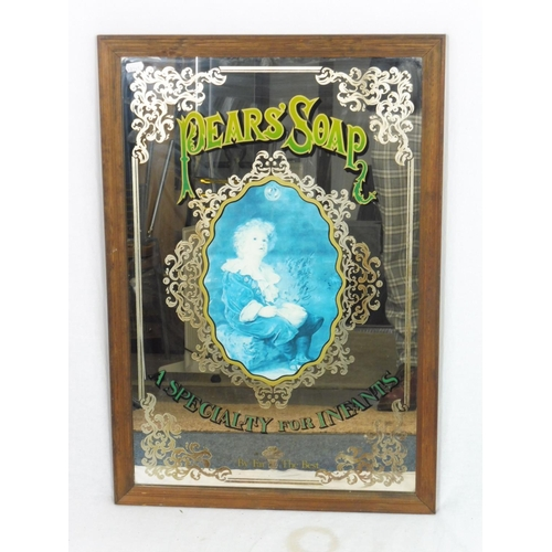 29 - Vintage Framed 1970s Pears Soap mirror  29