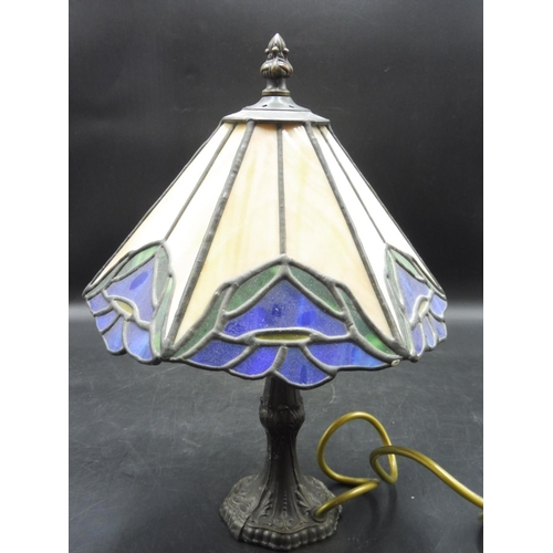 35 - Vintage Tiffany Style Lamp (12