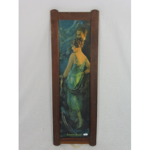 37 - Vintage Framed 1924 Pompeian Beauty Panel