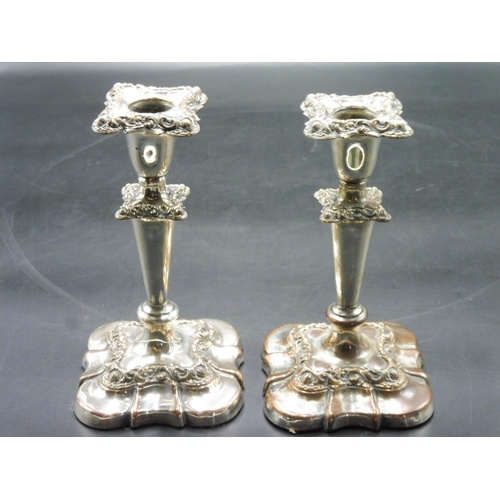 44 - Pair of Silver plated Candle stick Holders...