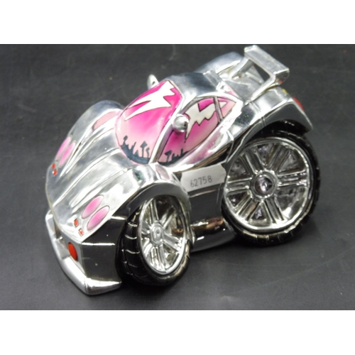 45 - 3D Street Art Car money box complete with stopper...