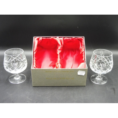 51 - Set of Bohemia Crystal Brandy Glasses complete with Presentation Box...