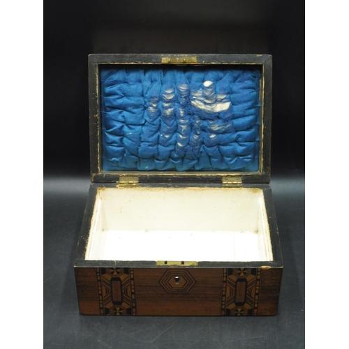 52 - Inlaid Wooden Storage Box (10