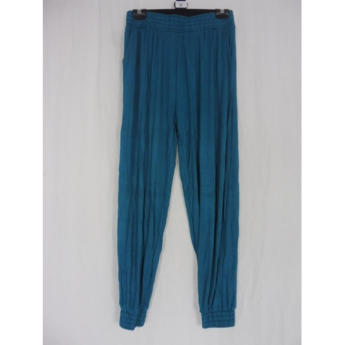 27 - Womens Turquoise Baggy Sweatpants size 28''...