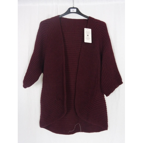 47 - Womens Dark Red Cardigan Small...