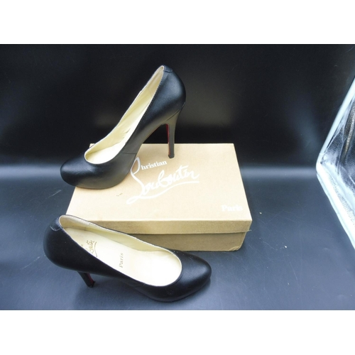 best cheap 03d6f 584ef Pair of Christian Louboutin Black heels Size 5 in original ...