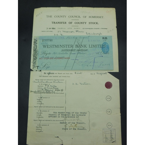 7 - County Stock Transfer Document dated 1924...