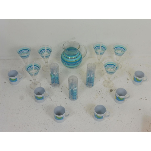 24 - Collection of outdoor Picnic set to include Plastic Cocktail glasses and other...
