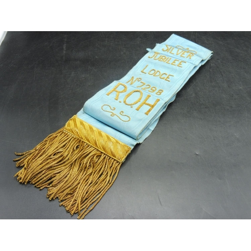 7 - Royal Order of The Buffaloes Silver Jubilee Sash Lodge Number 7298...