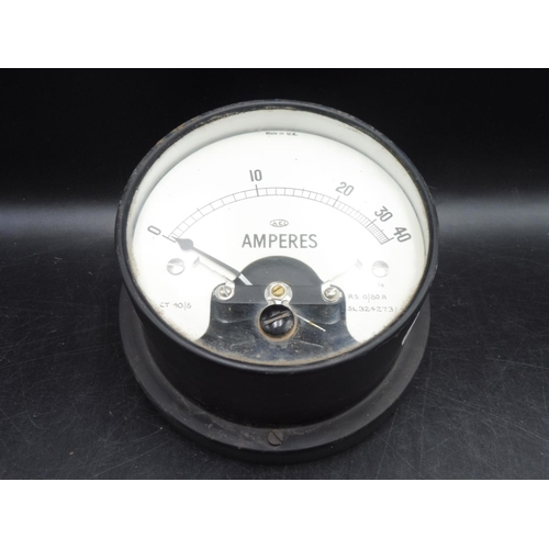 10 - AEI Amperes CT40/5 Metal Cased Meter (4.5