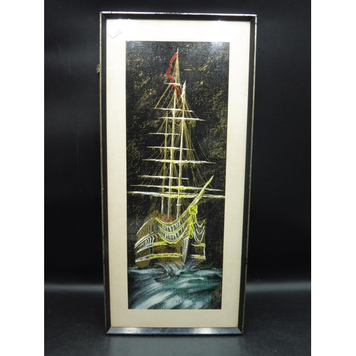 11 - Framed And Glazed Print Depicting Ship...