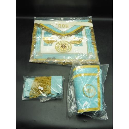 12 - Order of The Buffaloes Roll of Honour Apron, Sash, and Cuffs from the Three Principles Lodge...