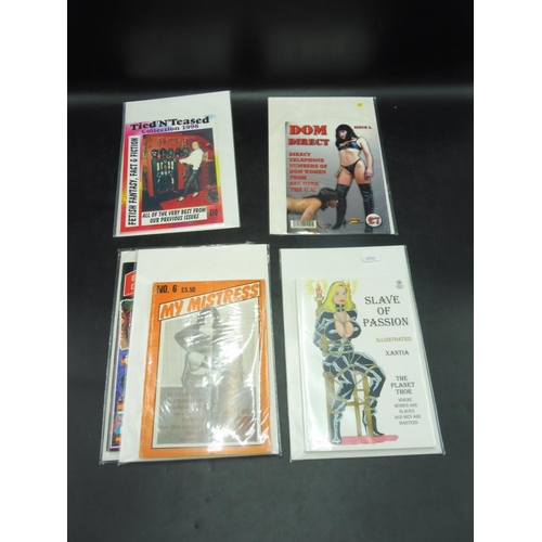 16 - Selection of 5 Dominatrix Magazines including Slave of Passion, My Mistress, Dom Direct, Tied N Teas...