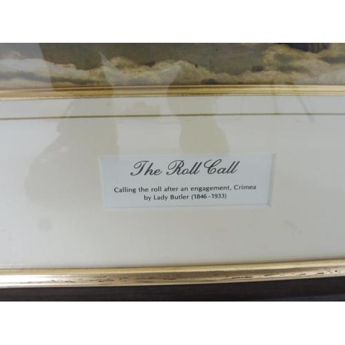 19 - Lady Elizabeth Butler Framed and Glazed Print entitled The Roll Call (40