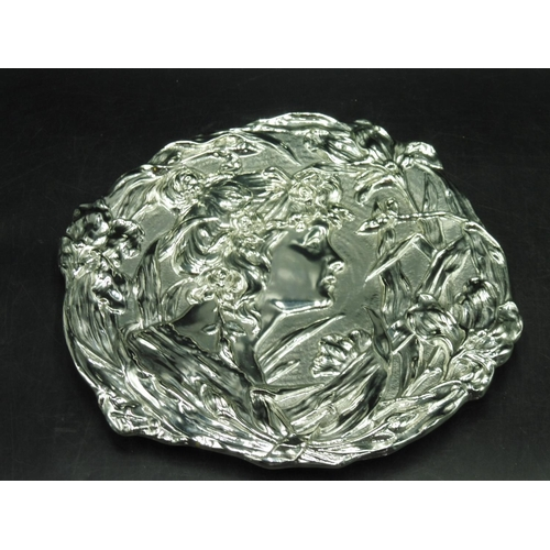 29 - Art Nouveau Silver coloured Plaque 12