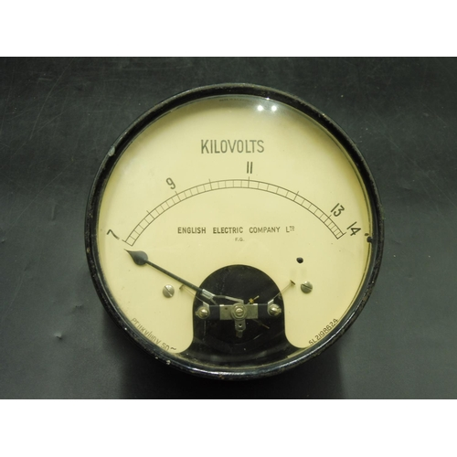 37 - Vintage English Electric Company Kilovolts Metal cased Meter (6