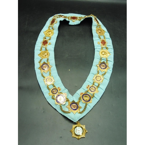 52 - Royal Order of The Buffaloes Collar with 21 Jewels (Bro A J Satchell)...