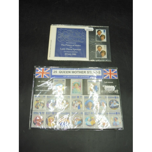 53 - Collection of 25 Queen Mother Mint Stamps and 2 Royal Wedding Stamps...