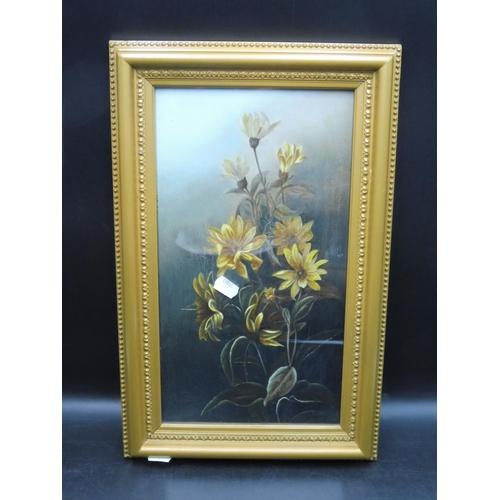 30 - Antique Framed and Glazed Original Oil of Still Life Artist Unknown (17