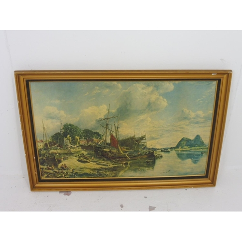 49 - Large Gilt Framed Picture of Nautical Scene (44