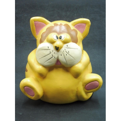 52 - Novelty Cat MOney Box Complete With Stopper...