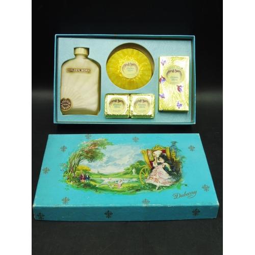 9 - Vintage Retro Yellow Mademoiselle Dubarry Toilet Luxuries Boxed...