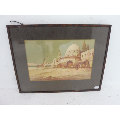 50 - W Knox (late 19th/early 20th century) Framed and Glazed Watercolour Depicting Middle Eastern Scene (...