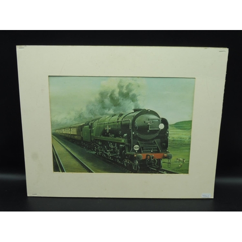 6 - C Hamilton Ellis Print of Pullman Steam Train (19