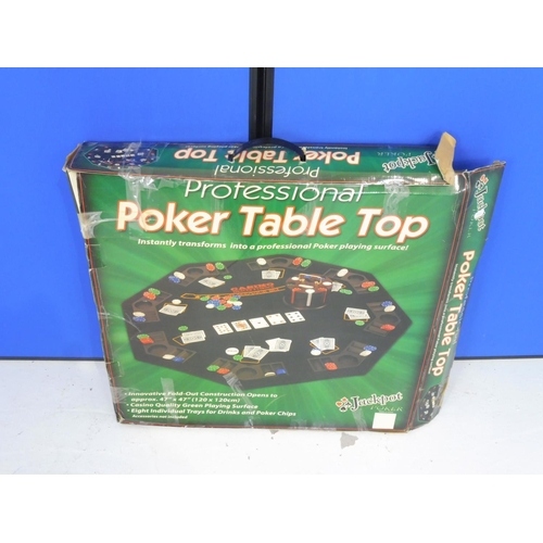 20 - Professional Poker Table Top Boxed opens to approx 47