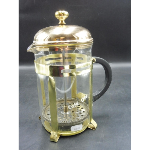 28 - Cafe Ole Classic Coffee Maker Glass Cafetiere, Chrome or Gold Finish...