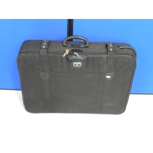 34 - Large Black Antler Suitcase on Wheels...