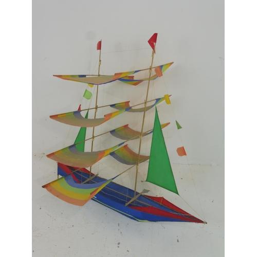 37 - Boat Kite approx. 90 x 90 cm...