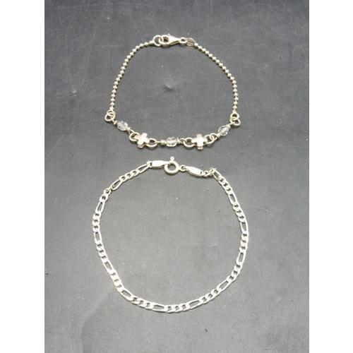 52 - Two Sterling Silver Bracelets...