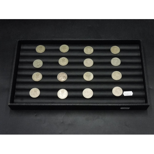 53 - Sixteen Two Shilling Coins to include Ellizabeth II & George VI...
