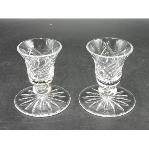 56 - Pair of Waterford Crystal Candle Holders complete with original box...