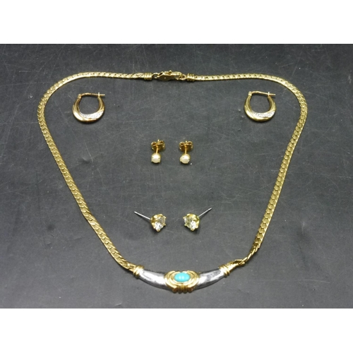 63 - Selection of Silver and Gold Plated Jewellery including Earrings and Necklace...