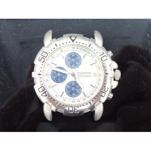 65 - Krug Braumen Sportsmaster Chronograph Watch Head...
