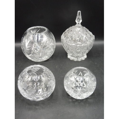 79 - Three Crystal Posy Vases (6