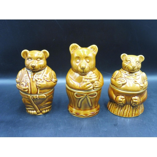 83 - Three Bear Themed Honey Pots...