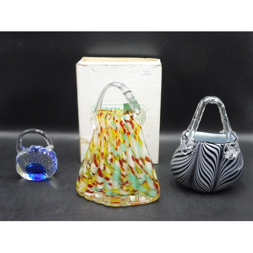 84 - Three Pieces of Glass to include Laguna Art Glass...
