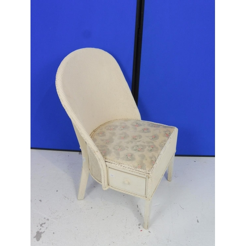 103 - Lloyd loom Style Nursing chair With Built in Under Seat Drawer 29.5