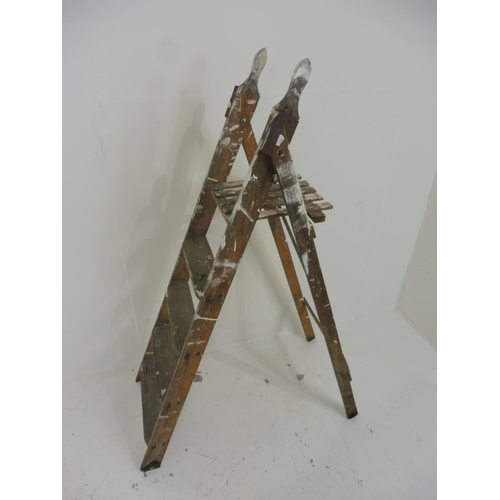 108 - A Set of Painters and Decoratrors Wooden Stepladders...