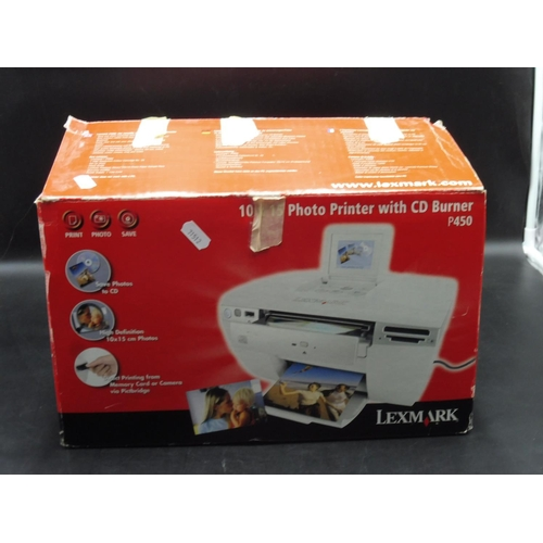 120 - Lexmark 10 x 15 Photo Printer with CD Burner  Boxed and untested...