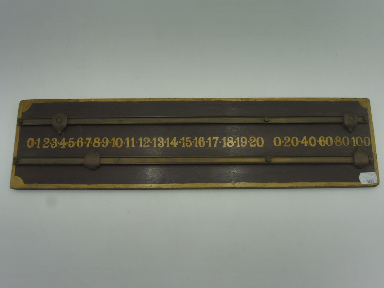 Vintage Wooden Snooker Scoreboard (20