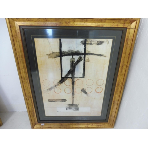 66 - Pair of Contemporary Abstract framed and Glazed Prints entitled Tanner Twelve, and Syllable Phoenix ...