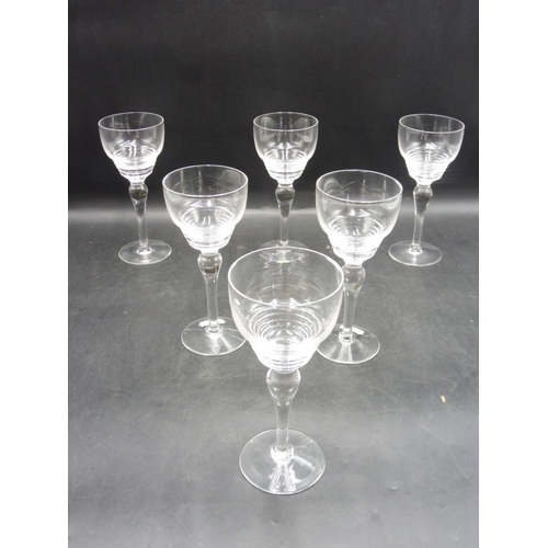 292 - Set of Hand Blown Long Stemmed Cordial Glasses...