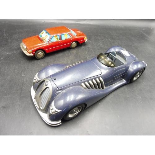 208 - Corgi 1940's Model Bat Mobile & Tin Plate Saloon car...