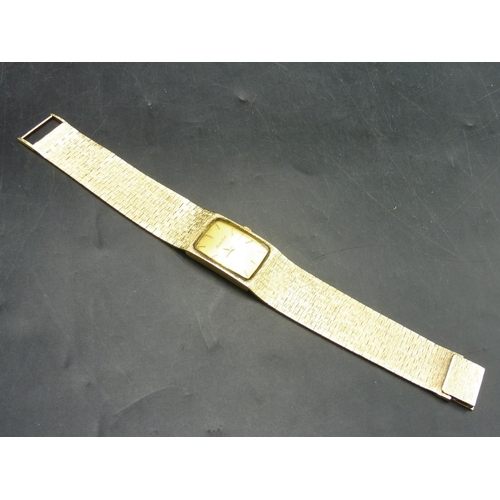 503 - Bueche Girod Hallmarked London 375 Gold Cased Watch and Strap (Total Weight 63.04 grams) Working Whe...